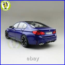 1/18 BMW M5 F90 2018 Diecast Model Car Toys Boy Girl Gifts Blue