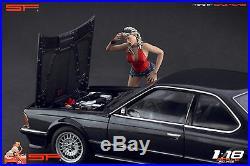 1/18 Brocken car Girl VERY RARE! Figure for118 CMC Autoart Ferrari MR Exoto