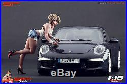 1/18 Car Wash girl figure VERY RARE! For118 CMC Autoart Ferrari Mercedes BBR