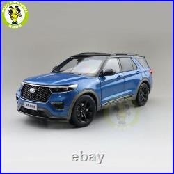 1/18 Ford EXPLORER 2021 Diecast Metal Model Car Toys Boys Girls Gifts Blue
