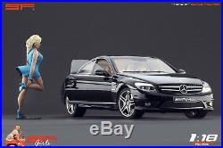 1/18 Girl in a hurry blue dress figure VERY RARE! For 118 CMC Autoart BBR