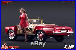 1/18 Girl in a hurry red dress figure VERY RARE! For 118 CMC Autoart BBR