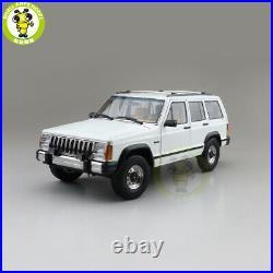 1/18 Jeep Cherokee XJ Diecast Model Toys Car Boys Girls Gifts White