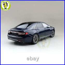 1/18 Lincoln Continental Diecast Model Car Toys Boys Girls Gifts Blue