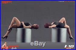 1/18 Lying girl black dress figure VERY RARE! For118 CMC Autoart Ferrari