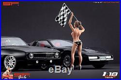 1/18 Naked finish girl figurine VERY RARE! For118 CMC Autoart Ferrari BBR