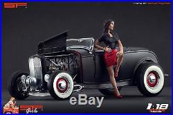1/18 Possing Girl 3 VERY RARE! Figure for118 CMC Autoart Ferrari Mercedes