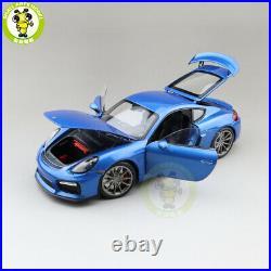 1/18 Schuco Porsche CAYMAN GT4 Diecast Model Toys Cars Boys Girls Gifts Blue