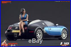 1/18 Sitting Girl blue dress VERY RARE! Figure for118 CMC Autoart Ferrari