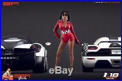 1/18 Start Finish Girl VERY RARE! Figure for118 CMC Autoart Ferrari BBR