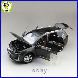 1/18 US GM Cadillac XT6 SUV Diecast Model Car SUV Boys Girls Gifts Gray