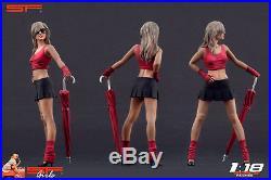 1/18 Umbrella girl figure VERY RARE! For 118 CMC Autoart Minichamps