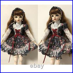 1/3 Ball Jointed Girl 60cm BJD Doll With Full Set Accessories Outfit Clothes Toy