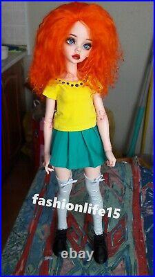 1/4 BJD SD Dolls Resin Pretty Girl Bare Doll + Random Eyes + Face Up Toys