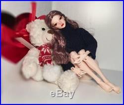 1/4 Bjd Doll Girl Free Eyes + Face Up Resin Toys Gift Handmade