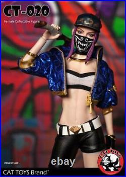1/6 League of Legends KDA Luminous Pop Star Girls Akali Female Figure Full Set