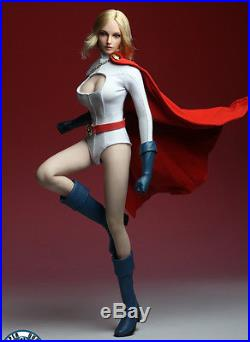 1/6 POWER GIRL Head Sculpt Suit Set For 12 PHICEN Hot Toys Female USA IN STOCK