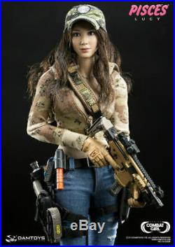 1/6 Phicen, DAMToys Female Action Figure Combat Girl Pisces Lucy Deluxe Box Set