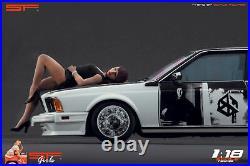 118 Lying girl black dress figurine VERY RARE! NO CARS! For diecast by SF