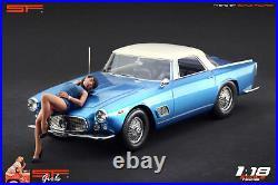 118 Lying girl blue dress figurine VERY RARE! NO CARS! For diecast by SF