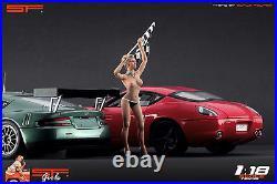 118 Naked finish girl figurine VERY RARE! For118 CMC Autoart Ferrari BBR SF