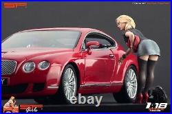 118 Short Dress Girl VERY RARE! Figurine, painted, NO CAR! For autoart CMC