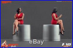 118 Smoking girl red dress figurine VERY RARE! For diecast collectors