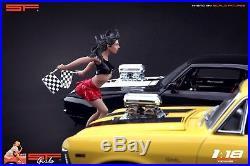 118 Speed girl figurine VERY RARE! NO CARS! For diecast cmc autoart