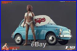 118 Surfing girl figurine VERY RARE! NO CARS! For diecast collectors