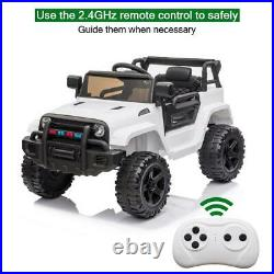 12V Kids Ride On Car Truck Toys Light Music 3 Speed Remote Control Boy Girl Gift