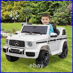 12V Kids Ride On Truck Boys Girls Electric Toy Car Mercedes-Benz withRemote White
