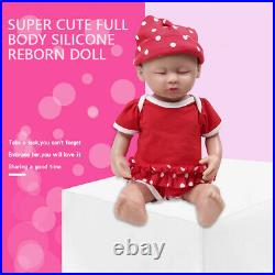 15 1800g Girl Eyes Closed Baby Silicone Rebirth Baby Doll Toy Holiday Gifts