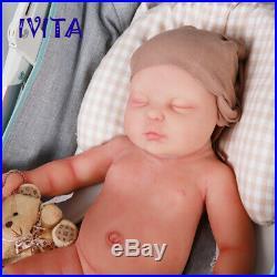 18.5'' Silicone Reborn Dolls Lifelike Sleeping Newborn Baby Girls Xmas Gift Toys