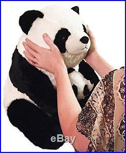 18-Inch Giant Panda with Baby Panda Plush Toys for baby girls