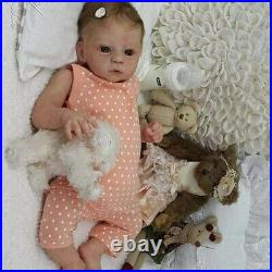 18 Reborn Baby Doll Girl Silicone Original Toddler Doll Toy 2-5 Years