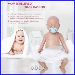 183500g Soft Full Silicone Rebirth Baby Girl Doll Kids Playmate Toys Xmas Gift