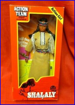 1964 Vintage Gi Joe Joezeta Action Team Shallaly Action Girl Indian Mib