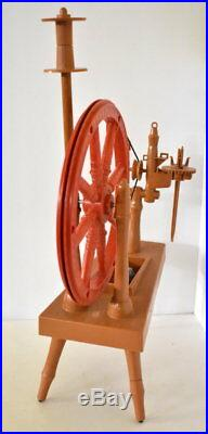 1970'S REMCO LITTLE RED SPINNING WHEEL for girls make coasters clothing VINTAGE