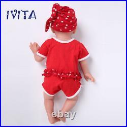 20 Full Body Silicone Reborn Baby Lovely Girl Popular Doll Kids Playmate Toys