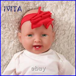 20 Lifelike Silicone Reborn Baby Girl Doll Waterproof Kids Toys Holiday Gifts