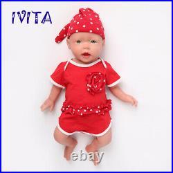 204KG Lifelike Cute Big Eyes Reborn Girl Full Body Silicone Doll Toddler Toy
