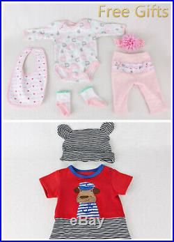22Twins Girl+Boy 2pcs Reborn Baby Doll Newborn Vinyl Silicone Handmade Kids Toy