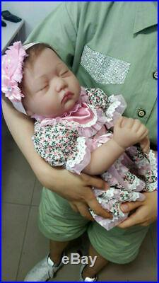 22Twins Reborn Baby Doll Newborn Realistic Vinyl Silicone Handmade Toy Girl+Boy