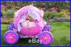 24 Volt Disney Princess Carriage Ride-On for Girls by Dynacraft 24 Volt Disney P