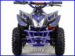 24V Blue Electric Battery Four Wheeler Boys Girls Kids Mini ATV Dirt Bike Titan