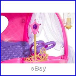 24V Disney Princess Carriage Ride-On Battery Car Toy Pink with Sounds for Girls