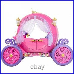 24V Disney Princess Carriage Ride On Toy Girls Kids Electric Car Battery Powered