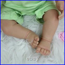 55 CM 3D-Paint Skin Soft Silicone Reborn Girl Baby Doll Toy Like Real 22 Inch Pr