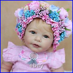 55 CM 3D-Paint Skin Soft Silicone Reborn Girl Baby Lisa Doll Toy Dress Up Boneca