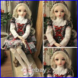 60cm 1/3 Ball Jointed BJD Doll Girls Toy with Face Eyes Makeup Wigs Clothes Set